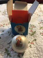 "Schmid Christmas Child Ornament 1975 Angel Berta Hummel Ball Decor 3.25"""