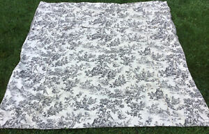 FULL SIZE BLACK & IVORY TOILE DU JOUY W CHECK DUVET COVER COUNTRY CURTAINS EXCEP