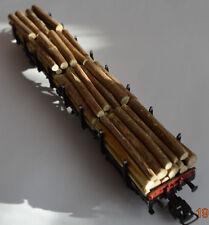 Ladegut Holz, Holzstämme, komplette Ladung, 60 Stück, 50 mm, Echtholz Ø 2 - 4 mm