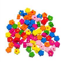180 Novità Misto Perle Perline Distanziatore Fiore Colorati 9.6mm x9.8mm