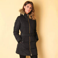 Adidas Women's Elongated Down Long Jacket Ladies Hooded Coat S90334 - Black