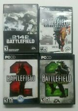 2142 Battlefield 2 PC Computer 4 Game Lot W Cases