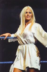 Torrie Wilson WWE White Robe PHOTO 4x6 8x10 (Select Size) #041