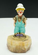 """Ron Lee / Little Boy In Overalls Clown Figurine / 1995 / 5"""" / Signed Collectible"""
