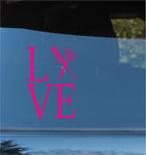 Love Hairstylist Scissors Decal Sticker Car Truck Window Vinyl Decal Stickers