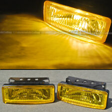 For Mustang 5 x 1.75 Square Yellow Driving Fog Light Lamp Kit W/ Switch Harness