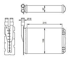 NRF Interior Heater Matrix - 507339 |Next working day to UK