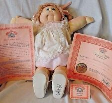 Cabbage Patch Kids 1984 The Little People soft face PAPERWORK w/ clothes shoes