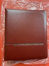 Estate Planning Portfolio 2 Inch Burgundy 3 Ring Binder New