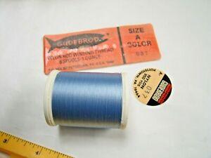950 yard Spool of size A # 037 Blue - Gudebrod Nylon Thread