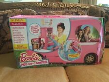 Barbie Doll Modern Pop-Up Camper with Pool and Patio 3-Story Camping Adventure