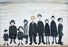 Framed LS Lowry Print – The Funeral Party (Picture Painting English Artist)