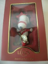 Lenox Peanuts Snoopy '' With Love From Snoopy '' Ornament New In Box