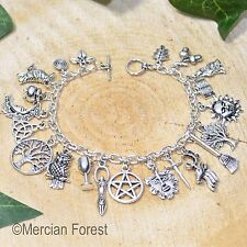 Pagan Ways Charm Bracelet - Pagan Jewellery, Wicca, Witch, Goddess, Pentacle