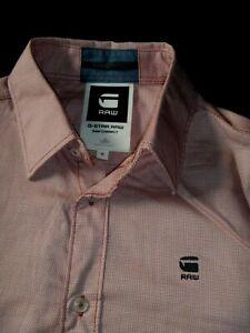 #7771 G STAR 'Correct James' L/S Shirt Size Medium