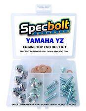 YAMAHA YZ ENGINE BOLT NUT KIT TOP END 80 85 125 250 Cylinder Head Reed Cage