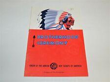 BSA - OA…BROTHERHOOD CEREMONY…1978 PRINTING