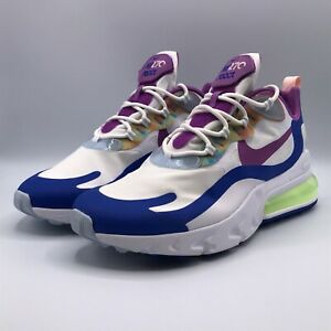 Nike Mens Size 12 Air Max 270 React Easter White Purple Blue Shoes Sneakers 1252