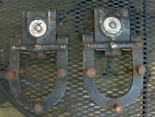 Antique Pair Barn Garage Door Rollers Big 4 Pulley Horseshoe Sliders Vtg