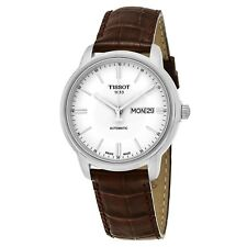 Tissot Men's Automatic lll White Dial Brown Strap Automatic Watch T0654301603100