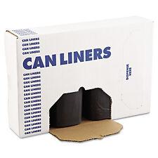 Boardwalk SH-Grade Can Liners 38 x 58 60gal 1.2mil Black 25/Roll 4 Rolls/Carton