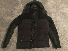 Mens Black Scotch & Soda Winter Quilted Jacket Size Medium