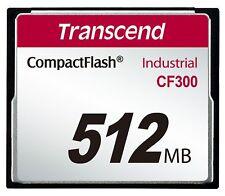 Transcend CF300 512 Mo CompactFlash SLC Industriel Carte mémoire