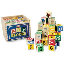 48 COLOURFUL WOODEN ALPHABET BLOCKS SET WOODEN EDUCATIONAL TOY BRAND NEW