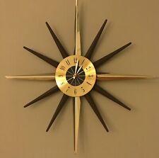 Vintage Seth Thomas Starburst Sunburst Starglo Mcm Wall Clock