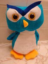 BLUE PLUSH HOOTER OWL NINE INCHES HIGH