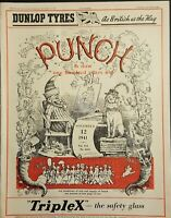 PUNCH Magazine or the London Charivari-Humour,Comics&Satire Nov 12 1941 No.5253