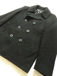 Men's Uniqlo Black Wool Peacoat Size XS Great Condition