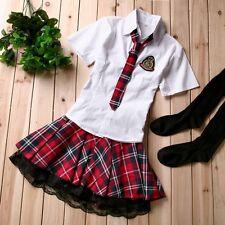 Japan Adult School Girl Cosplay Halloween Costume Women Fancy Dress Uniform