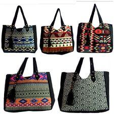 Wholesale 5 Pc Indian Tote & Shopper Handbag Women Purse Hippy Big Shoulder Bag