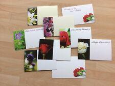 25 Assorted Plain & Remembrance Florist Cards Funeral