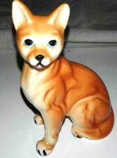 vintage orange ginger asian porcelain unique cat figurine