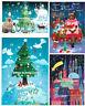 *MILA MARQUIS*Doppelkarte*Weihnachten*Adventskalender*Waldtiere*W-Stadt*Welt....
