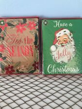 28 Glitter And Foil Christmas Cards Santa Tis The Season New