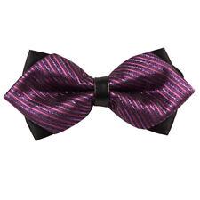 Men's a righe sottili viola e rosa punta di diamante PAPILLON