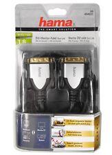 Hama Cavo Monitor DVI DUAL LINK CABLE 1,8m 054531 metallo pieno SPINA DVI-D HDMI