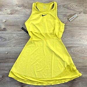 NWT Nike Court Maria Sharapova Tennis Dress Dri-Fit Womens Sm Yellow BV1066-733