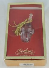 Gorham Crystal Champagne Bucket Christmas Ornament 2000 Boxed