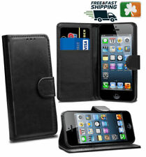 Brand NEW Stylish PU Leather Wallet Case Cover For iPhone 5c *irishstock*