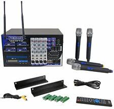 Vocopro PA-MAN II Pro Karaoke Machine System 4-Ch Mixer, Amp/CD-G Player/4 Mics