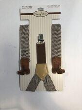 Rising Star Adjustable Suspenders Brown Cowboy Boots Infant Toddler Adjustable