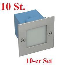 10er Set LED Wandeinbauleuchte TAXI Treppen Spot MC warmweiß Treppenleuchte IP54