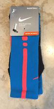 NIKE Hyper Elite NWT $18 Basketball crew socks Teal/crimson Dri-Fit Men's L 8-12