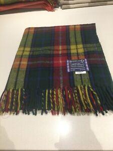 Schottische Tweeds 100% Wolle Teppich Decke Antik Buchanan Modern Tartan Werfen