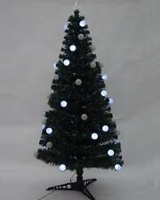 Green 120CM (4FT) Fibre Optic Christmas Tree With 28 Colour Changing Led Balls