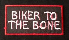 LADY BIKER TO THE BONE MOTORCYCLE BIKE MOTORBIKE BADGE IRON SEW ON PATCH